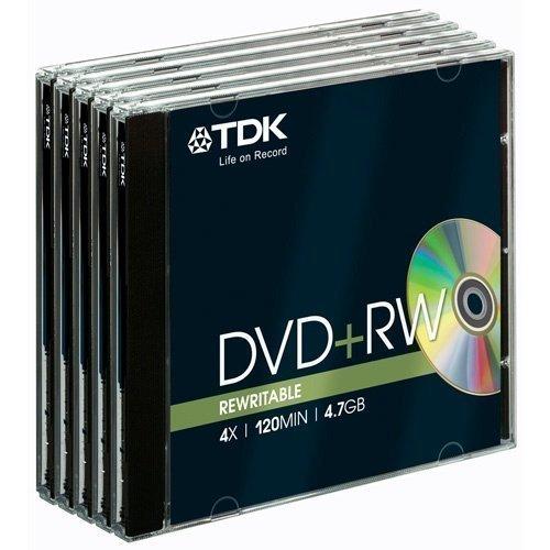 TDK DVD+RW 4.7GB 5-pack