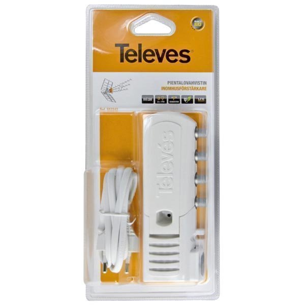 Televés antenninvahvistin sisäkäyt LTE-suodin 2+1 lähtöä 20d