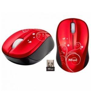 Trust Vivy Wireless Mini Mouse Punainen