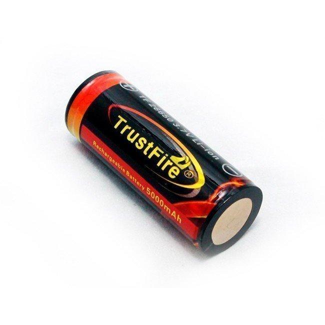 Trustfire 26650 5000 mAh Li-ion akku suojapiirillä