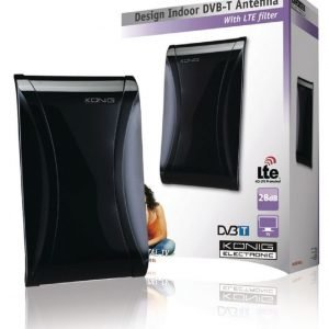 Tyylikäs DVB-T-sisäantenni jossa on LTE-suodatin