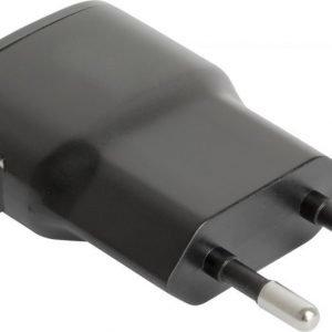 USB AC Charger Slim Black