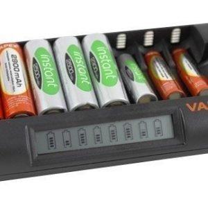 Vapex 8 akun laturi verkkovirtaan tai autoon