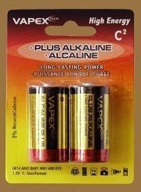 Vapex C Koko PLUS Alkali (Alkaline) Paristo - 2 kpl