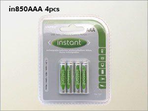 Vapex Instant ladattava AAA NiMH akku - 950 mAh - 4 kpl + kotelo