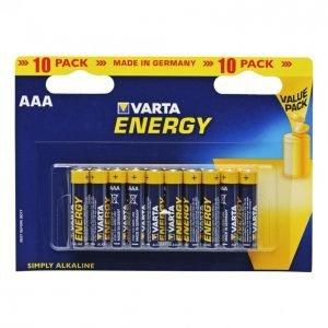 Varta Energy Aaa Paristo 10kpl