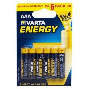 Varta Energy Aaa Paristo 6kpl