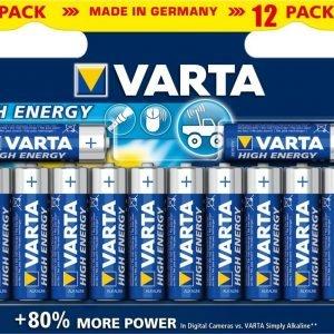 Varta High Energy Aa Paristot 12 Kpl