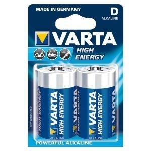 Varta High Energy D Paristo 2 Kpl