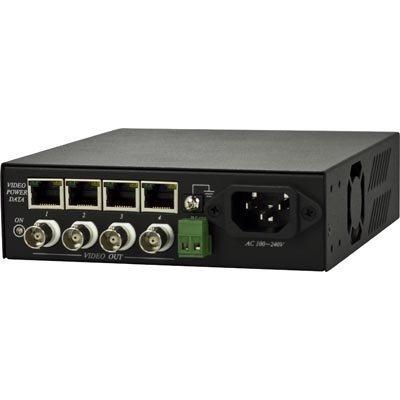 Vastaanotinyksikkö 4x TTP111VPDC BNC-video 12V-virta RS-485
