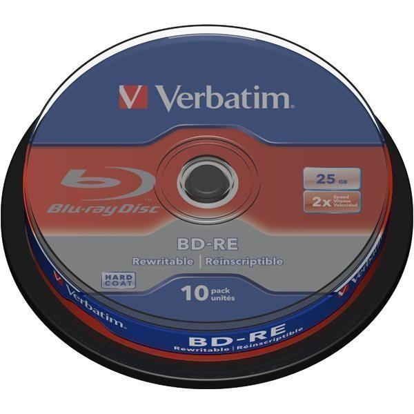 Verbatim BD-RE SL 2x 25GB/200min 10-pakkaus spindle Hard Coat