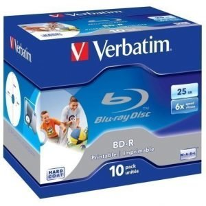 Verbatim Blu Ray BD-R Verbatim 25GB 10-pack Single Layer 6X Scratchguard surface