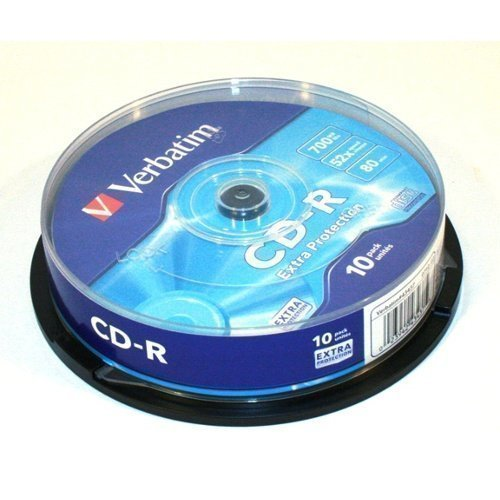 Verbatim CD-R Verbatim 52x 10p 80min./700MB Spindel Extra Protection