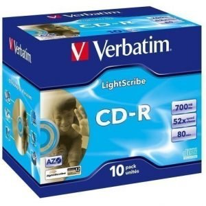 Verbatim CD-R Verbatim 52x 10p Light Scribe 700MB JC