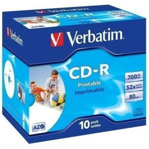 Verbatim CD-R Verbatim 52x 10p P. 80m/700MB JC Printable