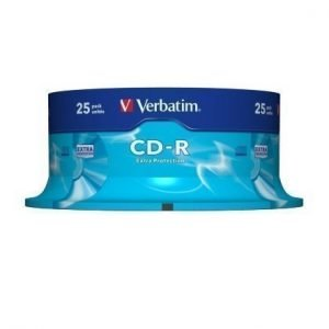 Verbatim CD-R Verbatim 52x 25p 700MB Spindel Extra Protection