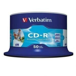 Verbatim CD-R Verbatim 52x 50p 700MB Printable Spindel