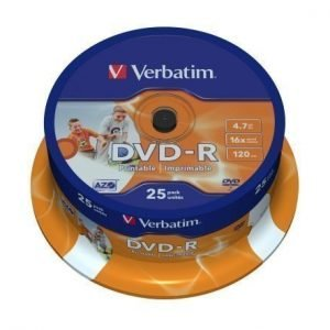 Verbatim DVD-R Verbatim 4.7GB 25p 16X Printable