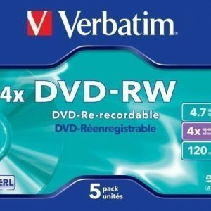 Verbatim DVD-RW Verbatim 4.7GB 5p Jewel Case 4X