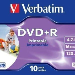 Verbatim DVD+R Verbatim 4.7GB 16X 10-pack Jewelcase Printable
