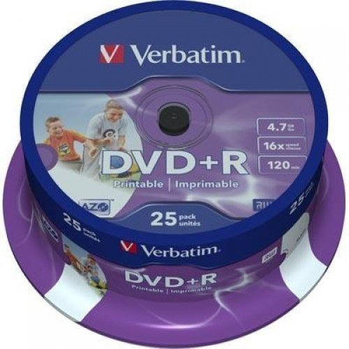 Verbatim DVD+R Verbatim 4.7GB 16X 25-pack Spindel Printable