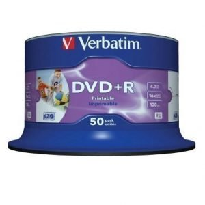 Verbatim DVD+R Verbatim 4.7GB 16X 50-pack Wide Printable Spindel