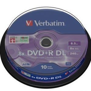 Verbatim DVD+R Verbatim 8.5GB 8X 10-pack Double Layer Spindel