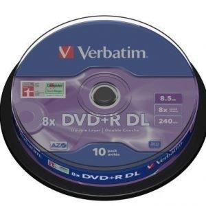 Verbatim DVD+R Verbatim 8.5GB 8X 10-pack Double Layer Spindel