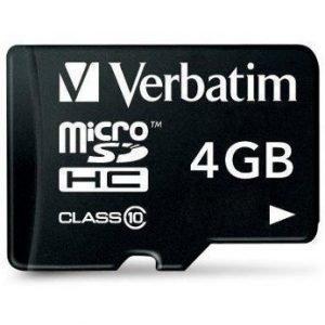 Verbatim microSDHC Class 10 4GB