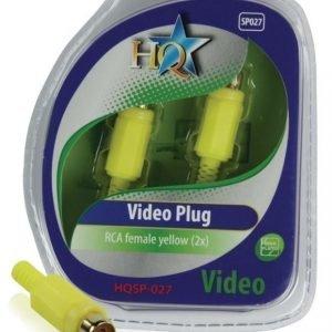 Video liitin RCA naaras keltainen (2x)
