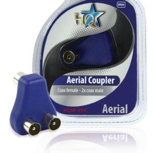 Videoadapteri antenni naaras - 2x antenni uros