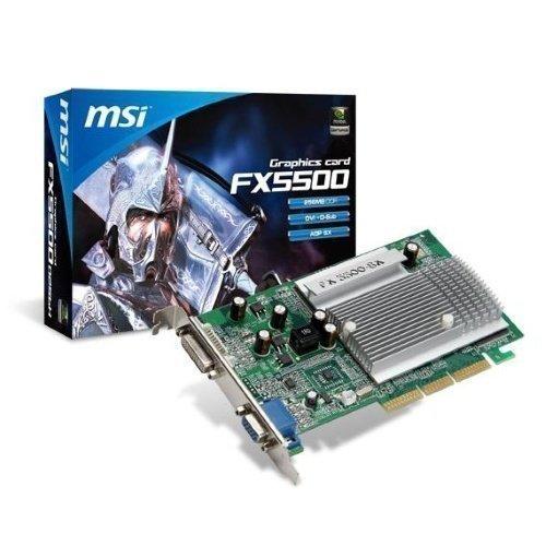 Videocard-AGP MSI GeForce FX5500 256MB DDR DVI VGA AGP