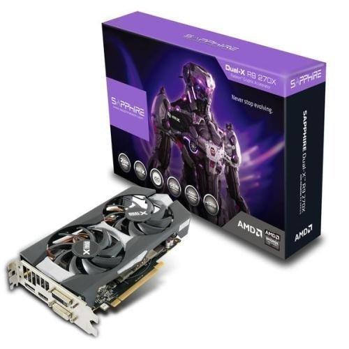 Videocard-PCI-Express-AMD Sapphire Radeon R9 270X OC DUAL-X 2GB DDR5 2xDVI HDMI DisplayPort Full Retail PCIe