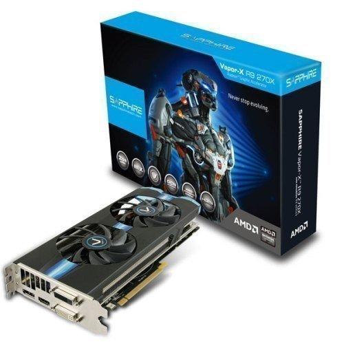 Videocard-PCI-Express-AMD Sapphire Radeon R9 270X OC VAPOR-X 2GB DDR5 2xDVI HDMI DisplayPort Full Retail PCIe