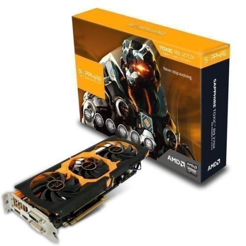 Videocard-PCI-Express-AMD Sapphire Radeon R9 270X TOXIC 2GB DDR5 2xDVI HDMI DisplayPort Full Retail PCIe