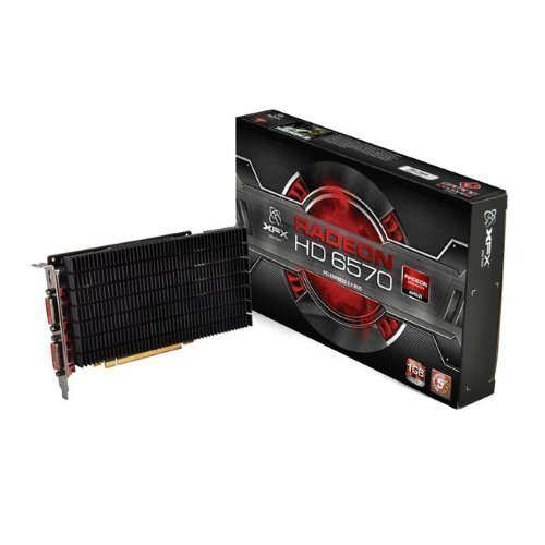 Videocard-PCI-Express-AMD XFX HD6570 1GB DDR3 (650Mhz) 2xDVI HDMI DX11 16x PCIe Heatsink