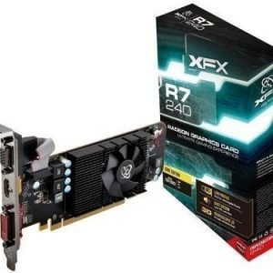 Videocard-PCI-Express-AMD XFX Radeon R7 240 2GB DDR3 DVI HDMI Low Profile PCIe