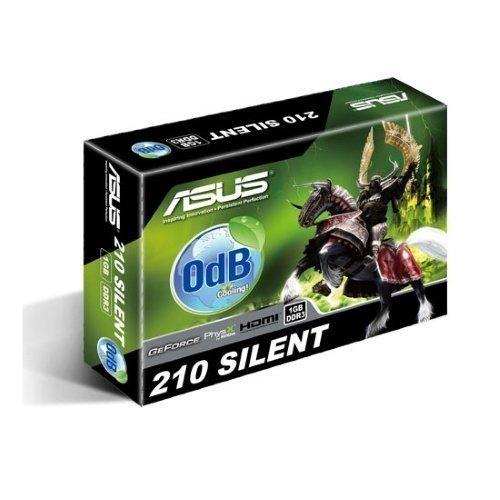 Videocard-PCI-Express-NVIDIA Asus GeForce 210 Silent 1GB DDR3 DVI VGA HDMI PCIe