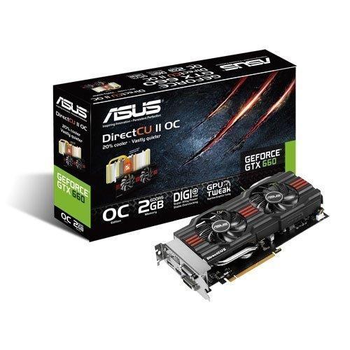 Videocard-PCI-Express-NVIDIA Asus GeForce GTX 660 OC DirectCU II 2GB DDR5 2xDVI HDMI DisplayPort PCIe