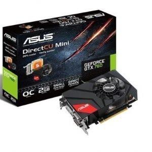 Videocard-PCI-Express-NVIDIA Asus GeForce GTX 760 Mini 2GB DDR5 2xDVI HDMI DisplayPort PCIe