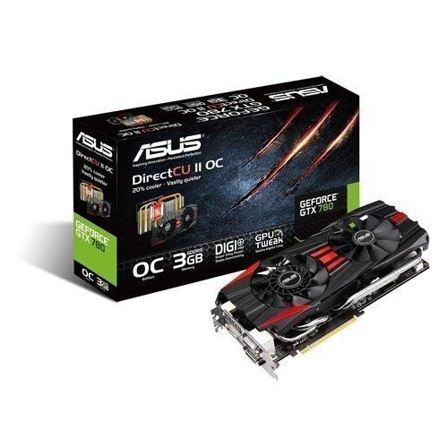 Videocard-PCI-Express-NVIDIA Asus GeForce GTX 780 3GB DDR5 DirectCU II 2xDVI HDMI DisplayPort PCIe