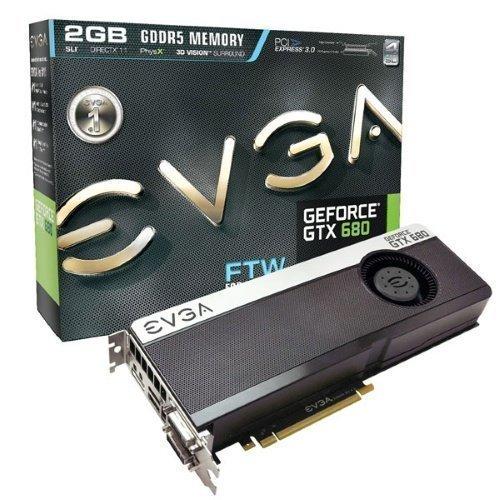 Videocard-PCI-Express-NVIDIA EVGA GeForce GTX 680 FTW 2GB DDR5 2xDVI HDMI DisplayPort PCIe