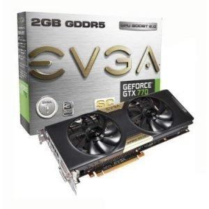 Videocard-PCI-Express-NVIDIA EVGA GeForce GTX 770 SC 2GB DDR5 2xDVI HDMI DisplayPort PCIe