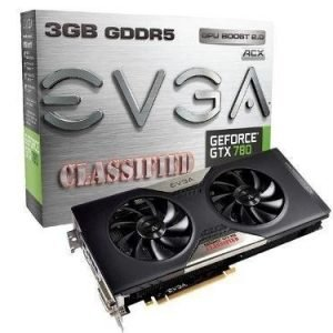 Videocard-PCI-Express-NVIDIA EVGA GeForce GTX 780 SC 3GB DDR5 Classified 2xDVI HDMI DisplayPort PCIe