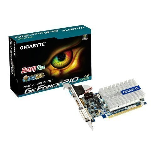 Videocard-PCI-Express-NVIDIA Gigabyte GeForce 210 1GB DDR3 DVI VGA HDMI LowProfile PCIe