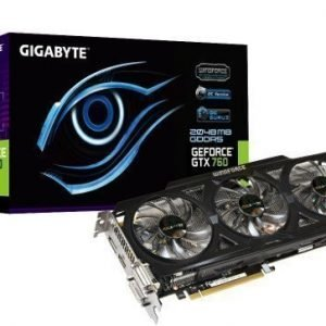 Videocard-PCI-Express-NVIDIA Gigabyte GeForce GTX 760 OC Rev2.0 2GB DDR5 2xDVI HDMI DisplayPort PCIe