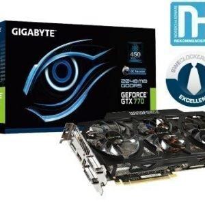 Videocard-PCI-Express-NVIDIA Gigabyte GeForce GTX 770 OC 2GB DDR5 2xDVI HDMI DisplayPort PCIe