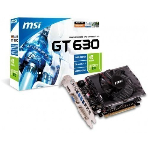 Videocard-PCI-Express-NVIDIA MSI GeForce GT 630 1GB DDR3 DVI VGA HDMI PCIe