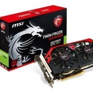Videocard-PCI-Express-NVIDIA MSI GeForce GTX 760 OC 4GB DDR5 2xDVI HDMI DisplayPort PCIe