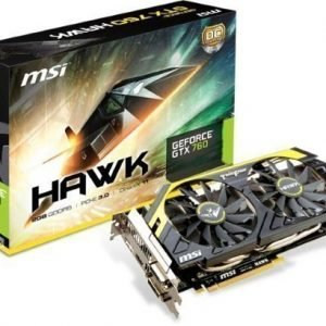 Videocard-PCI-Express-NVIDIA MSI GeForce GTX 760 OC HAWK 2GB DDR5 2xDVI HDMI DisplayPort PCIe